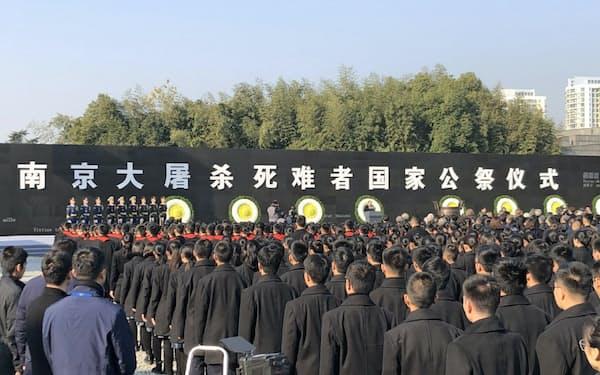 13日に南京市で開かれた追悼式典に最高指導部のメンバーは出席しなかった