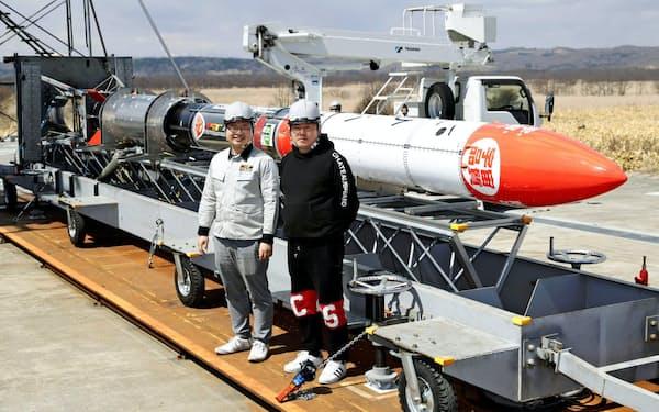 5月に小型ロケットMOMO3号機の打ち上げに成功した(北海道大樹町)