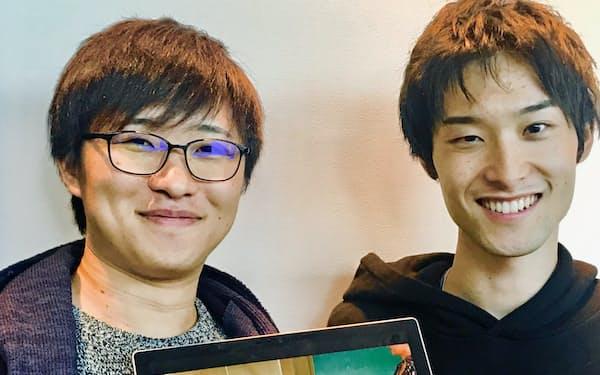 平賀さん(右)は貝賀さんと一緒に12月に新会社「GoMA」(ゴーマ)を設立した
