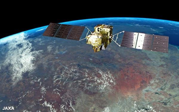 投資家は地球規模の問題に向き合う(温暖化ガス観測衛星「いぶき2号」のイメージ JAXA提供)