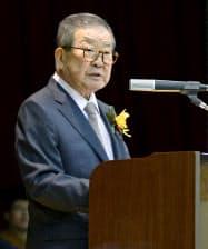 韓国LGグループの具滋●(日へんに景)・名誉会長=聯合・共同