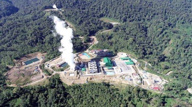 住友商事などが出資するムアララボ地熱発電所の試運転が進む(インドネシア・スマトラ島)