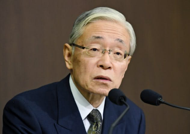 NHKの次期会長に就任する前田晃伸氏(10日、東京都渋谷区)