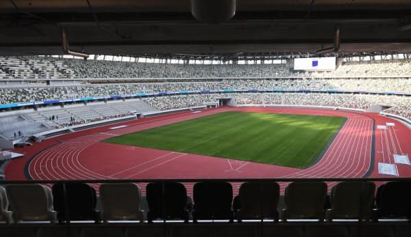 3階から見た国立競技場