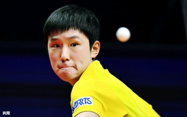 張本智和はグランドファイナルで世界1位を追い詰めた=共同