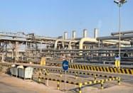 サウジ東部にあるサウジアラムコの石油施設