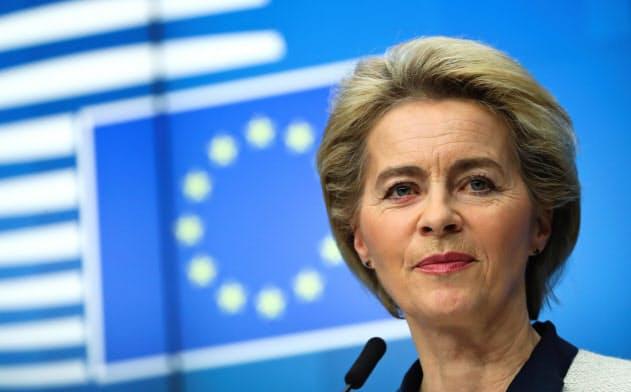 フォンデアライエン欧州委員長は、域内製造業の競争力回復を重要課題と位置づけている=ロイター