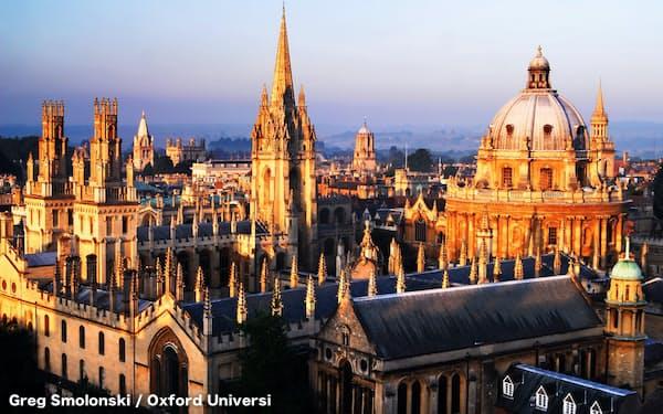 世界大学ランクで4年連続首位のオックスフォード大学=同大提供