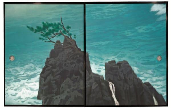 東山魁夷「唐招提寺御影堂障壁画 濤声」(部分、1975年、唐招提寺蔵)
