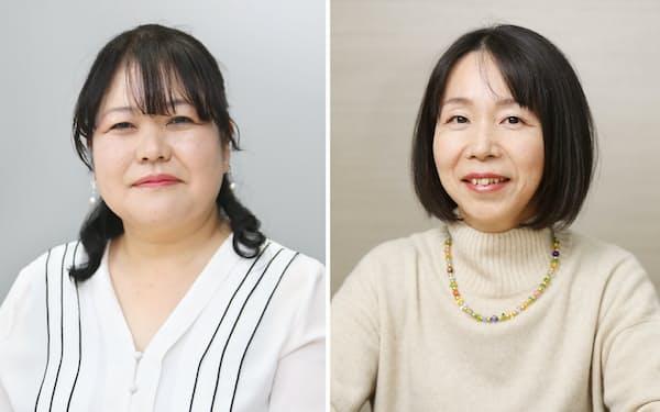 湊ナオ氏(左)と夏山かほる氏