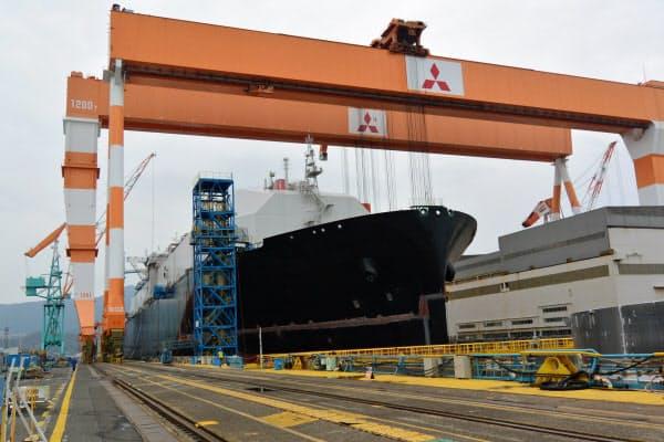 三菱重工の長崎造船所・香焼工場