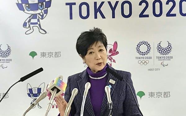 東京都知事選での再選を目指す小池百合子知事(6日の記者会見)