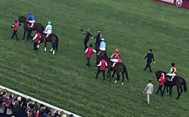 日本から3頭が参戦した凱旋門賞の本馬場入場。結果は惨敗…