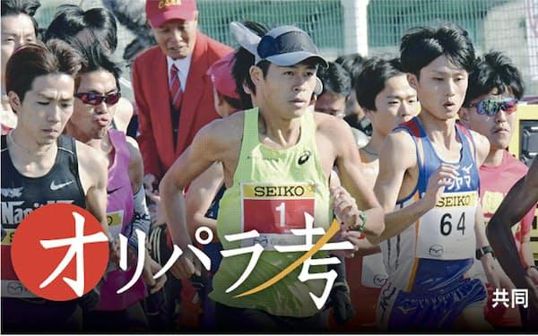 川内は防府読売マラソンでフルマラソン100回目の完走を達成した=共同