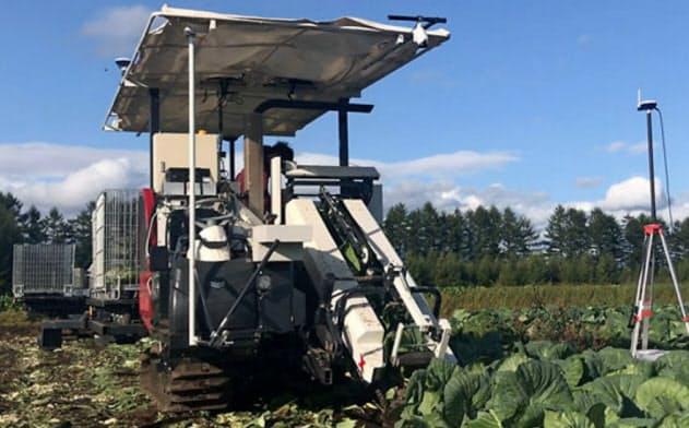 北海道鹿追町の人工知能(AI)を活用した農作業の自動化の実証実験