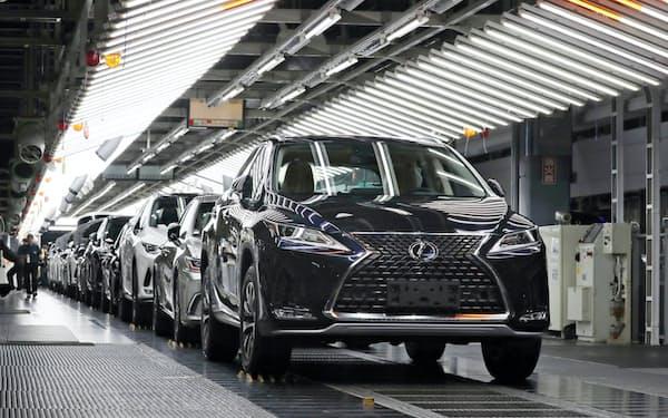 海外での販売が好調なレクサスを製造するトヨタ自動車九州の宮田工場(福岡県宮若市)