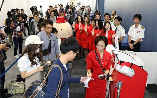 中部国際空港の第2ターミナル(9月、愛知県常滑市)