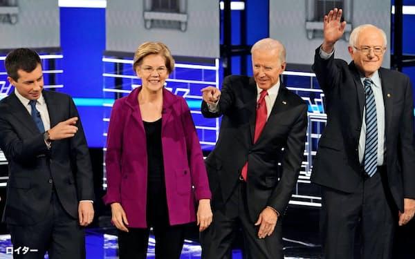2020年の米大統領選に出馬した民主党の主要候補らはいずれも問題を抱えている=ロイター