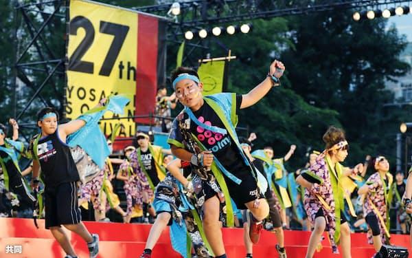 YOSAKOIソーラン祭りは多くの集客を見込める人気イベント(6月、札幌市内)