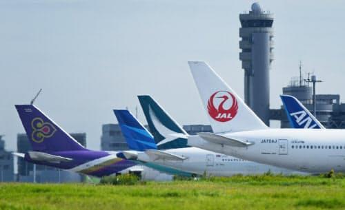 20年度予算案では羽田空港につながる鉄道新線の整備などが盛り込まれた(羽田空港)