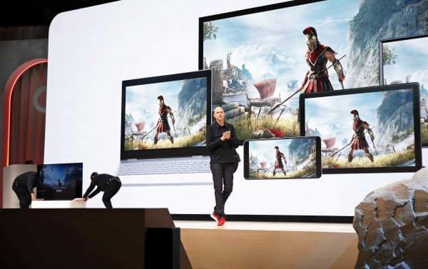 米グーグルは3月、クラウド型のゲーム配信サービス「スタディア」を始めると発表した(米サンフランシスコ=ロイター)