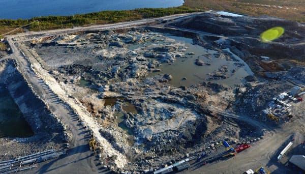 年間のリチウム生産計画も見直しを迫られる(写真はネマスカのケベック州内の採掘場)