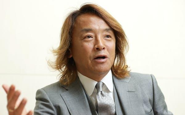 日本障がい者サッカー連盟会長の北沢豪さん。パラリンアートカップの審査員も務める