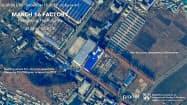 ICBM開発の可能性が指摘される平壌近郊の工場の衛星画像=AP