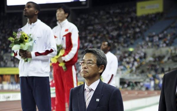 世界陸上の表彰式(2007年、大阪市)