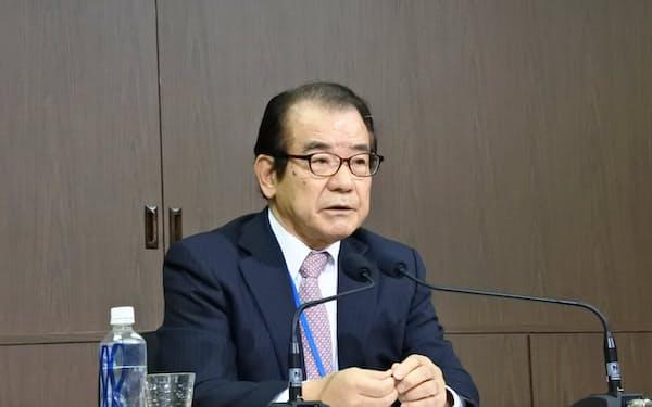 NHKの経営委員長に就任した森下俊三氏(24日、東京・渋谷)