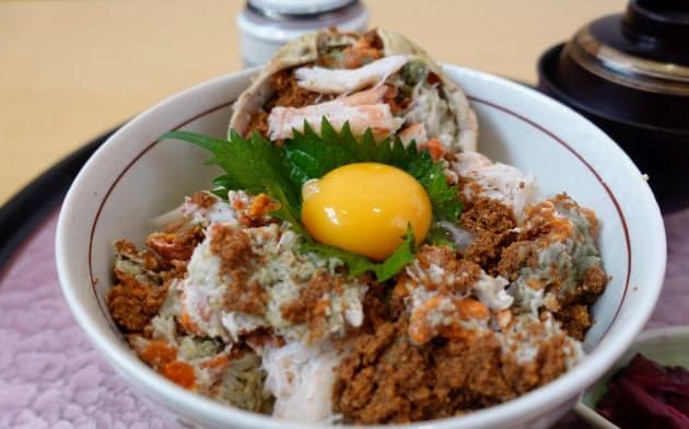 こころび吉成店の親ガニ丼