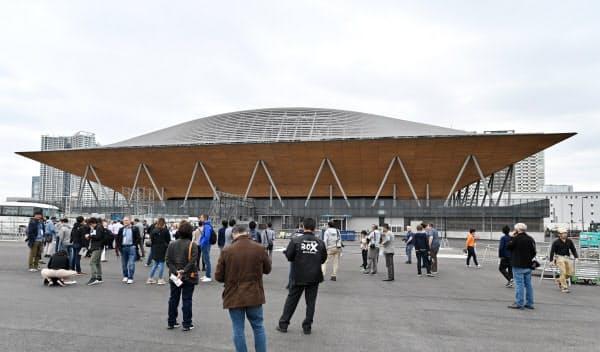 有明体操競技場は東京2020大会の新設会場では最も多く木材を使用している