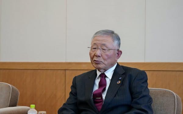 久和会長は5GやAIの重要性を強調した