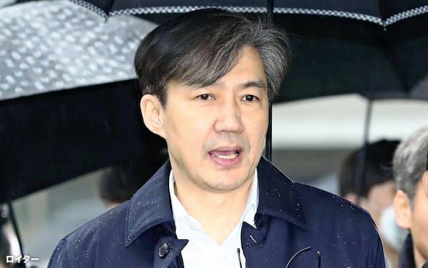 曺氏側は起訴内容を否定している=ロイター