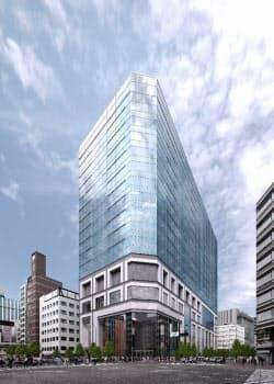 「KABUTO ONE」は兜町の象徴的なビルになる(2021年の完成予想図)