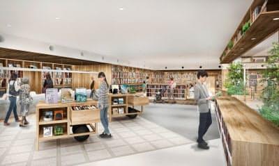 大丸須磨店4階に図書館を新設し、にぎわいを創出する(イメージ図)=神戸市提供