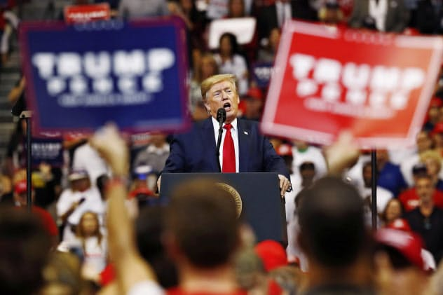 President Donald Trump speaks during a rally on Tuesday, Nov. 26, 2019, in Sunrise, Fla. (AP Photo/Brynn Anderson)