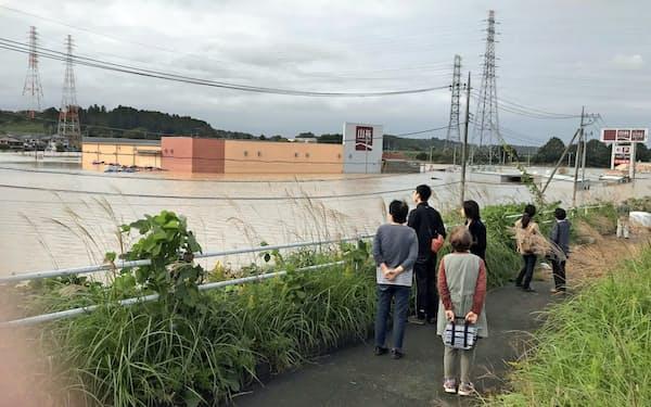 台風19号で水戸市も浸水被害に遭った(10月)