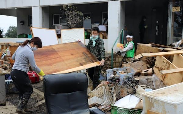 台風19号は埼玉県内に多くの被害をもたらした(10月、川越市)