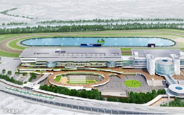 大規模改修工事が行われる京都競馬場の完成予想図(JRA提供)