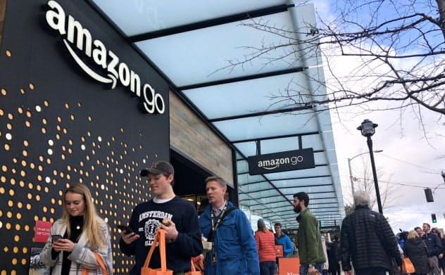 アマゾンがシアトルで開業したレジなし店舗「アマゾン・ゴー」の1号店