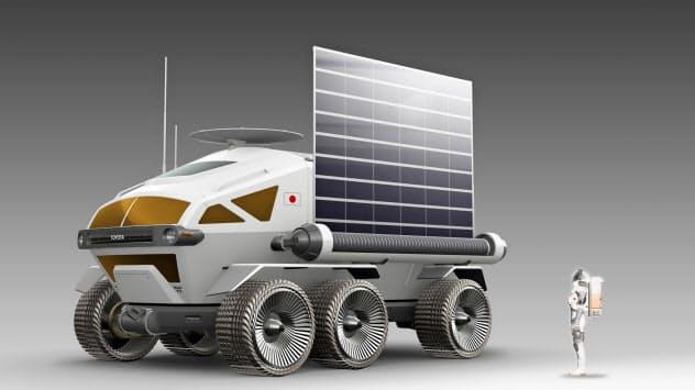 ブリヂストンはCESで、JAXAやトヨタが開発を検討している月面探査車(写真はイメージ)のタイヤを展示