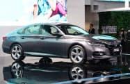 ホンダの2019年の中国新車販売は「シビック」や「アコード」など主力車種が堅調だった(19年11月、広東省広州市の展示会)