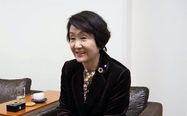「横浜市の状況を市民に伝え、将来の危機に備えたい」と話す横浜市の林文子市長