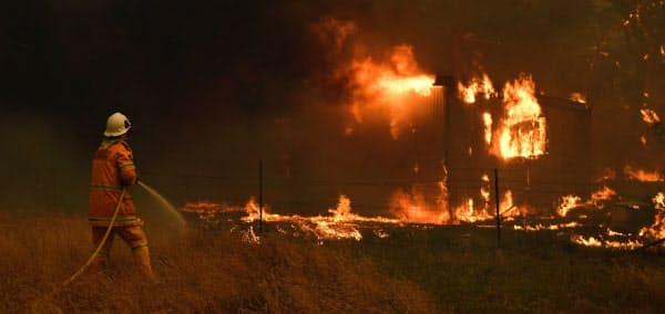 NSW州だけで東京の15倍の面積の森林が燃えた=AAP