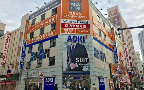 AOKIは複合店の展開に注力する(東京都豊島区の店舗)