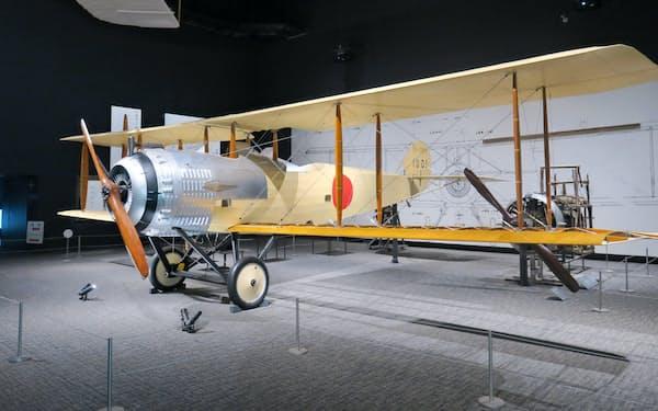 各務原での航空機生産のはじまりとなった「乙式一型偵察機」などの航空機を展示(岐阜かかみがはら航空宇宙博物館、岐阜県各務原市)