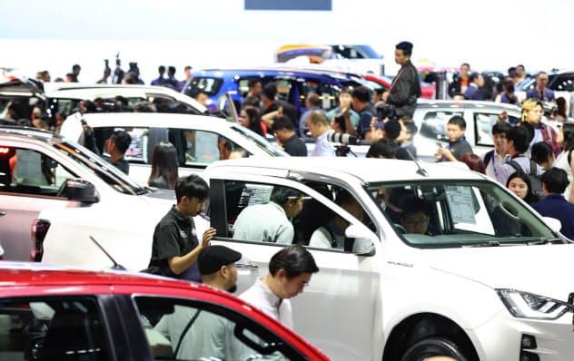 タイの2019年11月の新車販売は19年で最大の減少率となった(19年11月、バンコク)