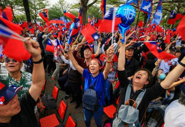 白熱、台湾総統選 最終盤に(写真特集)