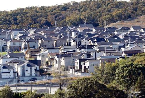 愛知県では新設住宅に占める戸建ての割合が高い